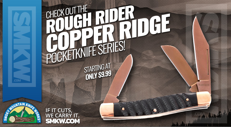 New! Rough Rider Copper Ridge Pocketknives