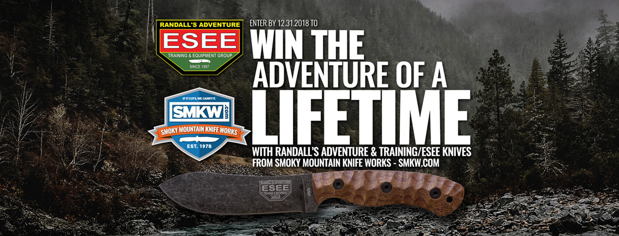 Esee 2018 Holiday Promotion - Win a Free Trip To Randall's Adventure Training!
