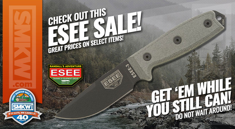 ESEE Closeout Sale - Don't Miss These Great Prices On Select ESEE Knives!