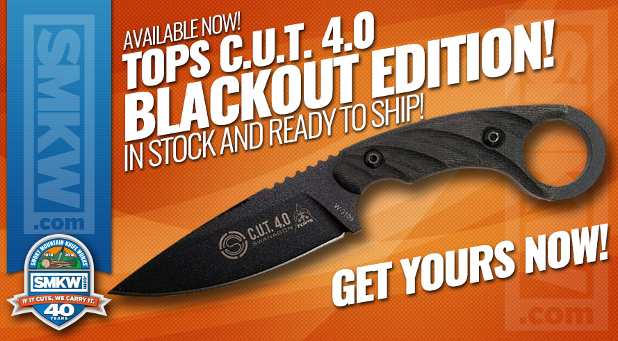 New! TOPS C.U.T. 4.0 Blackout Edition