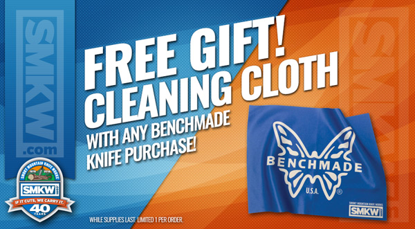 Free Benchmade Cleaning Cloth with Any Benchmade Knife Purchase!
