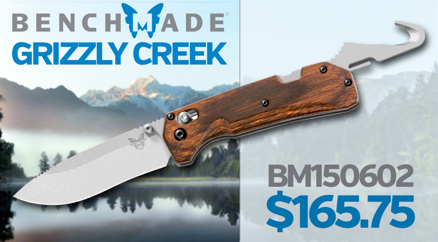 New! Benchmade Grizzly Creek Folder - BM150602 $165.75