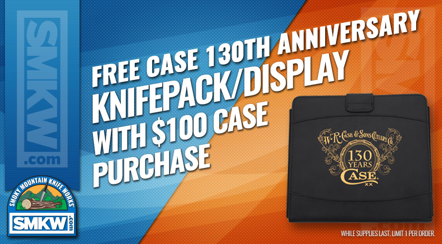 Free Case 130th Anniversary Knife Pack/Display with $100 Case Purchase!