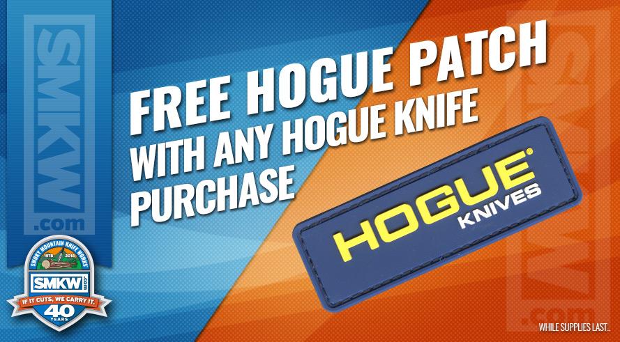 Free Hogue Velcro Patch Any Hogue Knife Purchase!