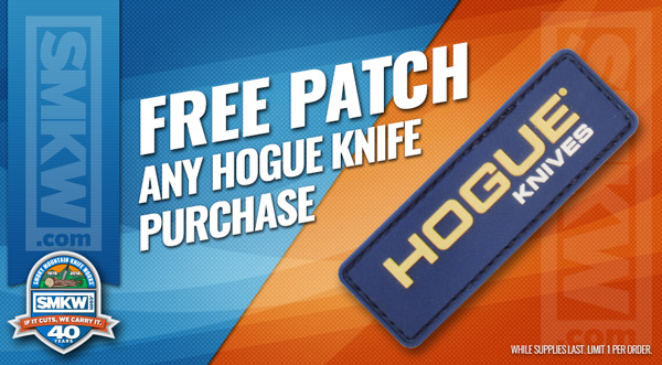 Free Hogue Velcro Patch Any Hogue Knife Purchase!
