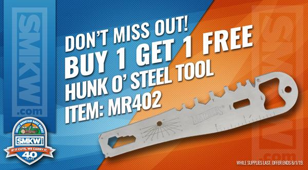 Buy 1 Get 1 Free  Marbles Hunk O' Steel Tool! (MR402)