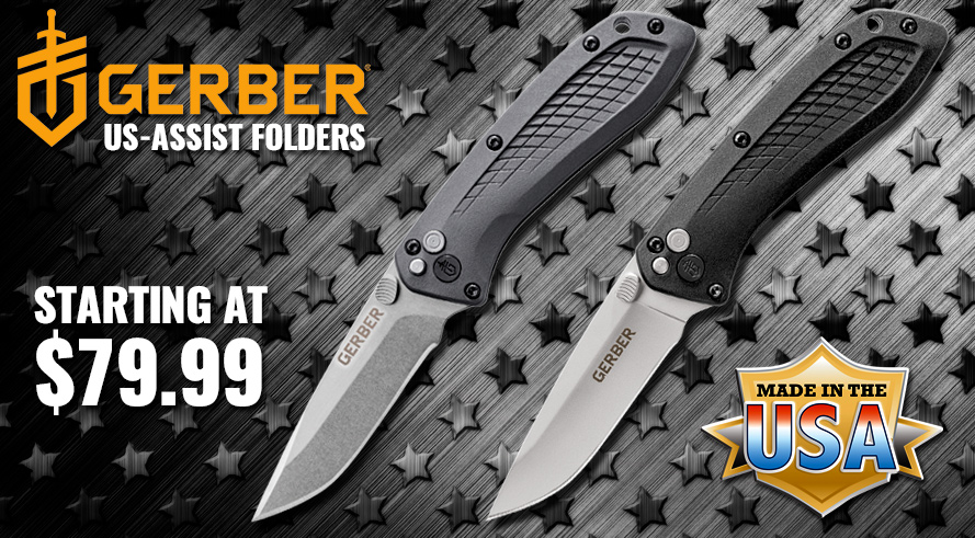 Gerber US-Assist Foldering Knives - Starting at $79.99!