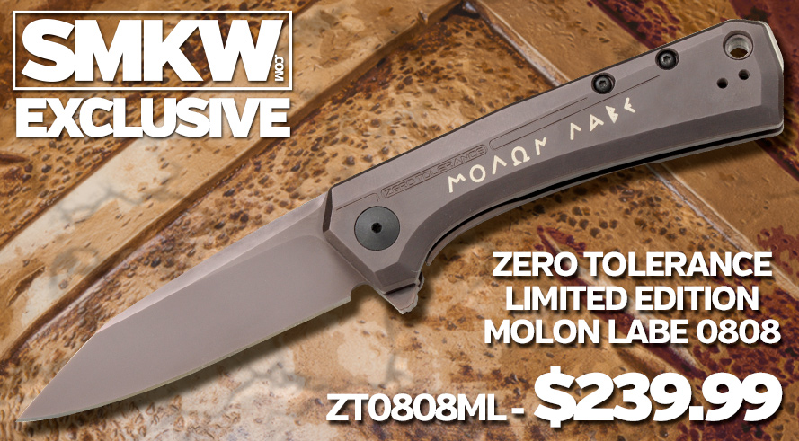 The ZT Limited Edition Molon Labe 0808 is designed to be the perfect companion piece to the Sig Sauer 1911 Spartan - ZT0808ML $239.99!
