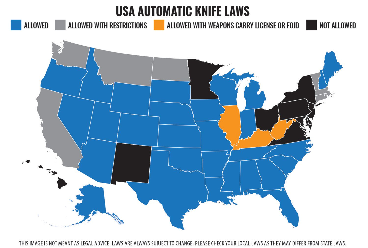Automatic Knives Restrictions   Smoky Mountain Knife Works
