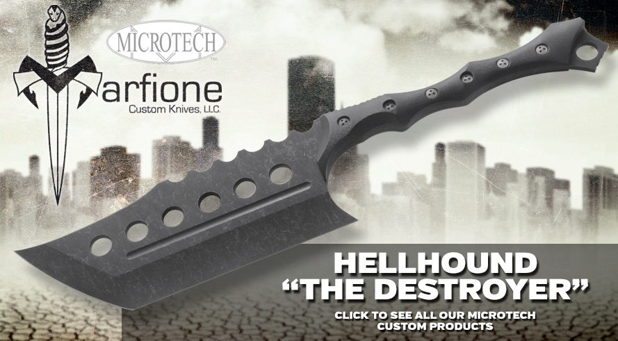 Marfione Custom Knives Hellhound the Destroyer Axe - Click to See All Marfione Custom Knives!