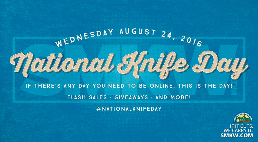 National Knife Day at SMKW.com - Flash Sales, Giveaways, and More!