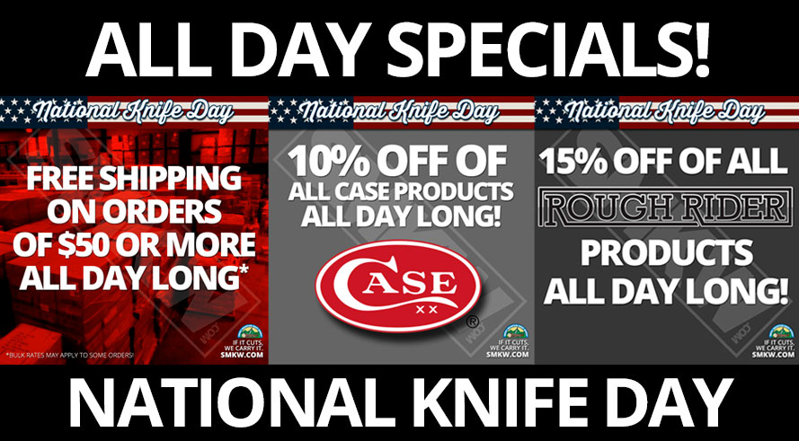 National Knife Day at SMKW.com - All Day Specials!
