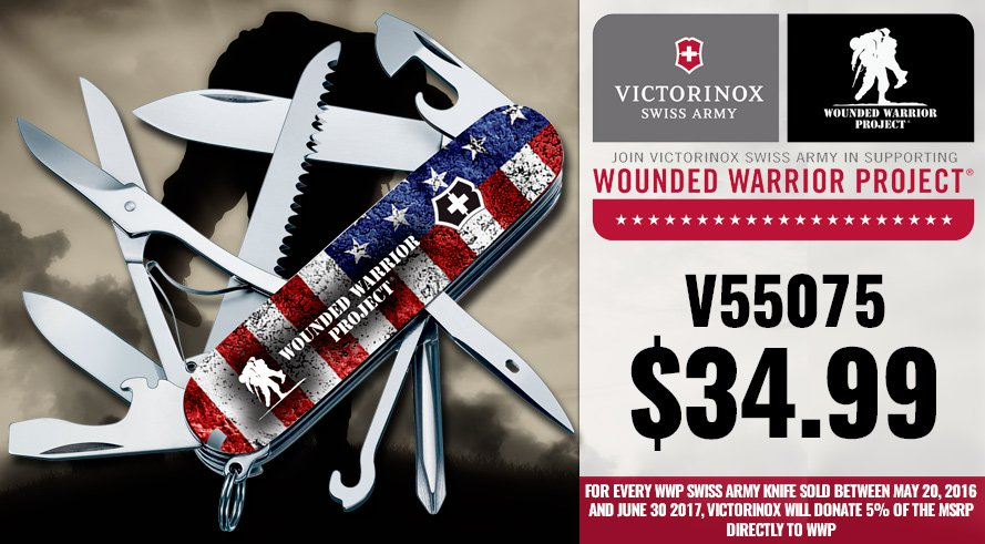 Swiss Army Wounded Warrior Project Knives - V55075 $34.99!