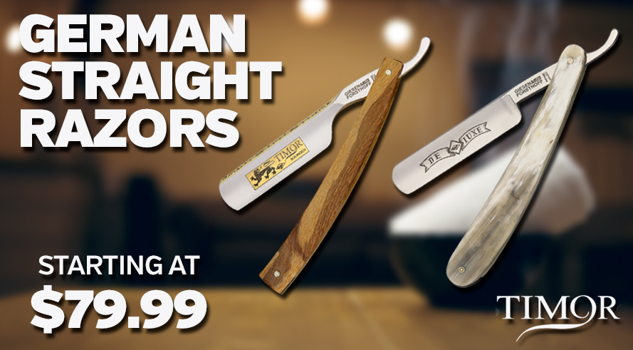 Timor German Straight Razors - Starting at $79.99!