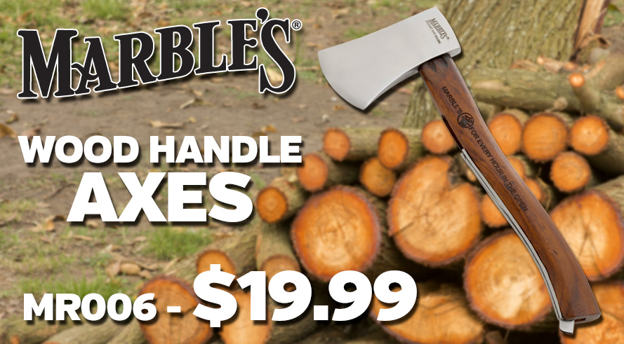 Marbles Wood Handle Axes - MR006 $19.99!
