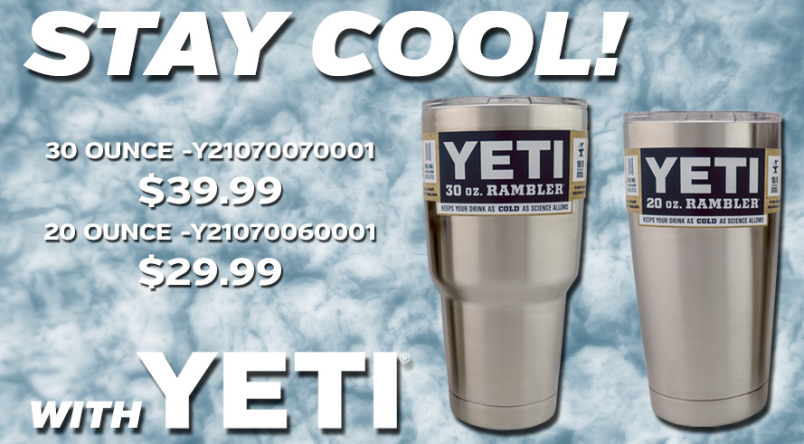 Yeti 20 and 30 ounce Ramblers - Starting at $29.99!